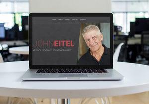 Mockup of website for John Eitel
